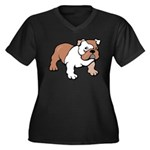 Bulldog gifts for women Women's Plus Size V-Neck D