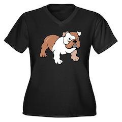 Bulldog gifts for women Women's Plus Size V-Neck D