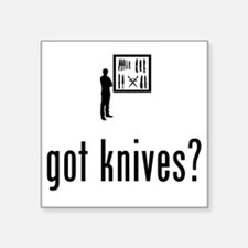"""Knife-Collecting-02-A Square Sticker 3"""" x 3"""""""