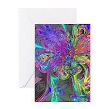 Glowing Burst of Color Deva Greeting Card