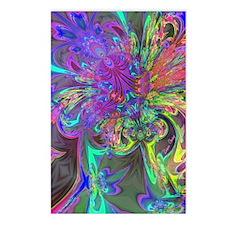 Glowing Burst of Color De Postcards (Package of 8)