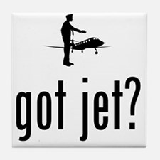 Business-Jet-Pilot-02-A Tile Coaster