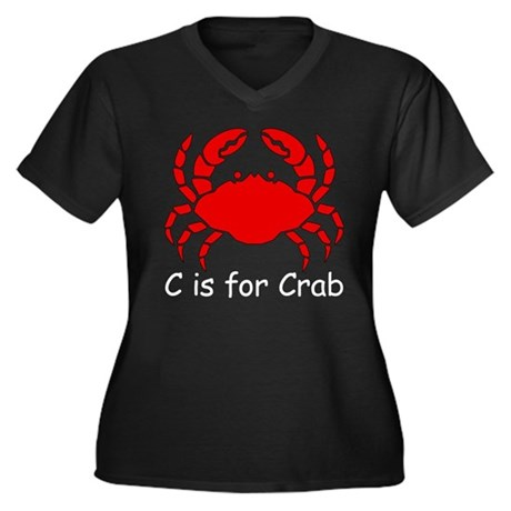 C is for Crab Women's Plus Size V-Neck Dark T-Shir