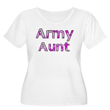 Army Aunt Pink Camo T-Shirt