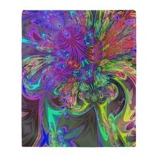 Glowing Burst of Color Deva Throw Blanket