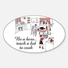 Teach A Kid To Cook Oval Decal