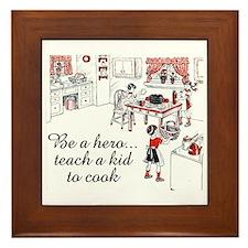 Teach A Kid To Cook Framed Tile