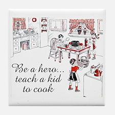 Teach A Kid To Cook Tile Coaster