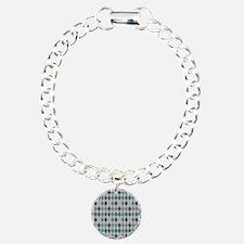 Blue Gray Argyle Bracelet