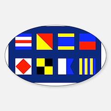 CODE FLAG Sticker (Oval)
