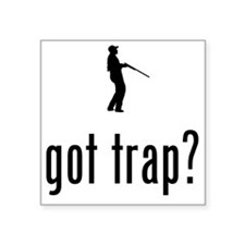 "Trap-Shooting-02-A Square Sticker 3"" x 3"""