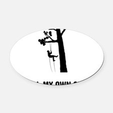 Tree-Climbing-03-A Oval Car Magnet