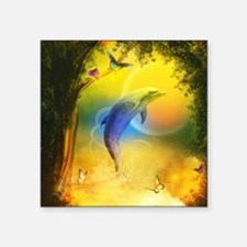 """cd_shower_curtain Square Sticker 3"""" x 3"""""""