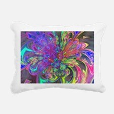Glowing Burst of Color D Rectangular Canvas Pillow