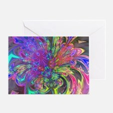 Glowing Burst of Color Deva Greeting Card