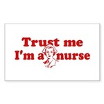 Trust Me I'm a Nurse Rectangle Sticker