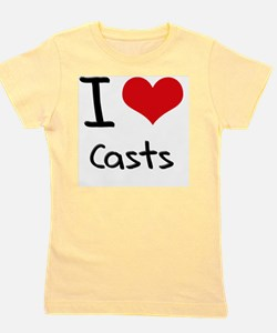 I love Casts Girl's Tee