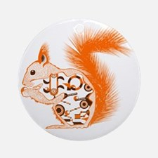 Nuts about Squirrels Round Ornament