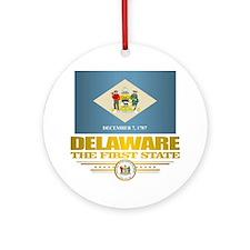 Delaware Pride Round Ornament