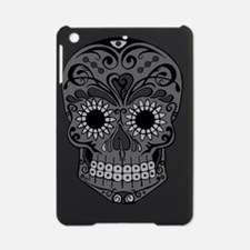 Black And Grey Sugar Skull iPad Mini Case
