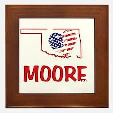 I Love You Moore Framed Tile