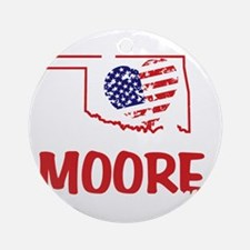 I Love You Moore Round Ornament