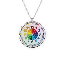 Read It Myself Clock Necklace Circle Charm