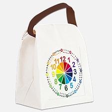 Read It Myself Clock Canvas Lunch Bag