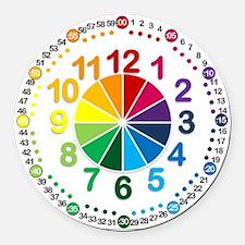 Read It Myself Clock Round Car Magnet