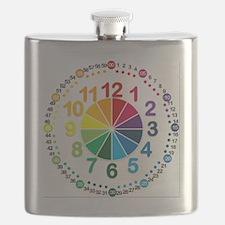 Read It Myself Clock Flask