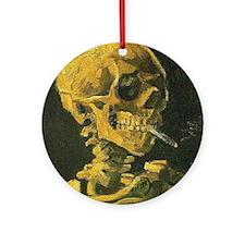 Van Gogh skelton Round Ornament