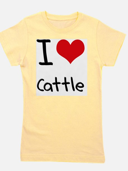 I love Cattle Girl's Tee