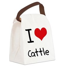 I love Cattle Canvas Lunch Bag