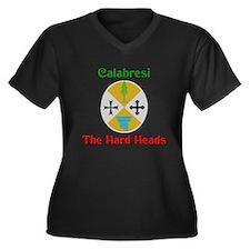 Calabresi, the hard heads. Women's Plus Size V-Nec