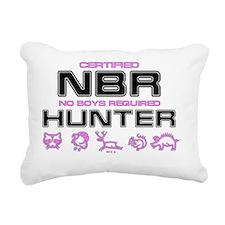 NBR Women Hunting Rectangular Canvas Pillow