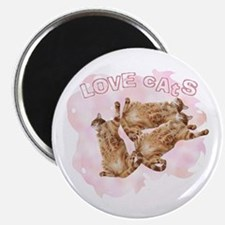 "Love Cats 2.25"" Magnet (10 pack)"