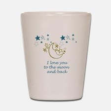 Moon and Back Shot Glass