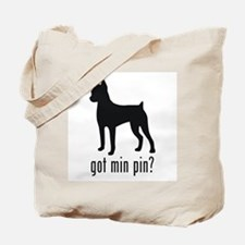 Minature Pinscher Tote Bag