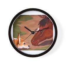 Corgi & Horse Wall Clock
