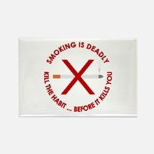...Smoking Is Deadly... Rectangle Magnet