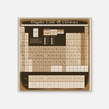"Periodic Table Of Elements Square Sticker 3"" x 3"""