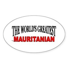 """The World's Greatest Mauritanian"" Oval Decal"