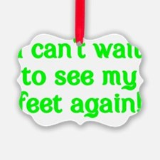 I cant wait to see my feet again! Ornament