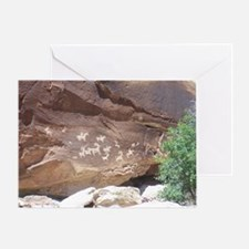 Native American Indian Rock Art - Pe Greeting Card