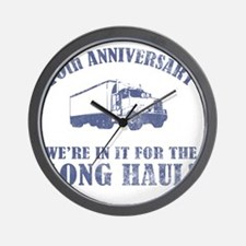 10th Anniversary Humor (Long Haul) Wall Clock
