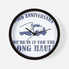 50th Anniversary Humor (Long Haul) Wall Clock