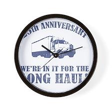 25th Anniversary Humor (Long Haul) Wall Clock