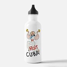 Vintage Visit Cuba Water Bottle