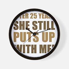 25th Anniversary Humor For Men Wall Clock