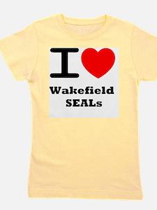 I <3 Wakefield SEALs Girl's Tee